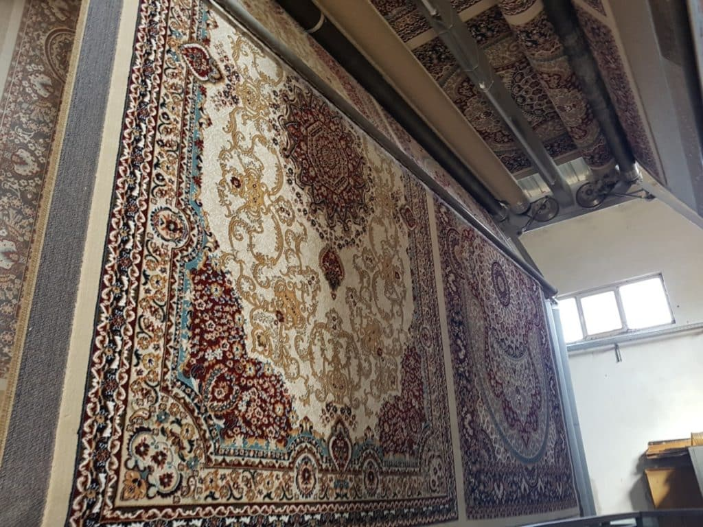 Rugs during production