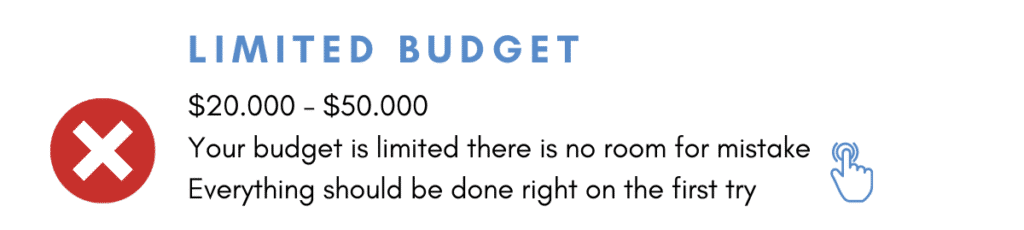 Small Businesses have limited budget